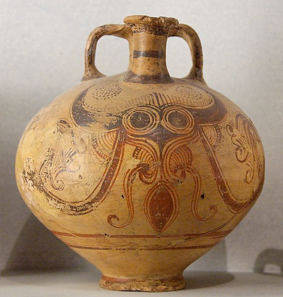 Mycenaean Greece Stirrup vase with octopus design
