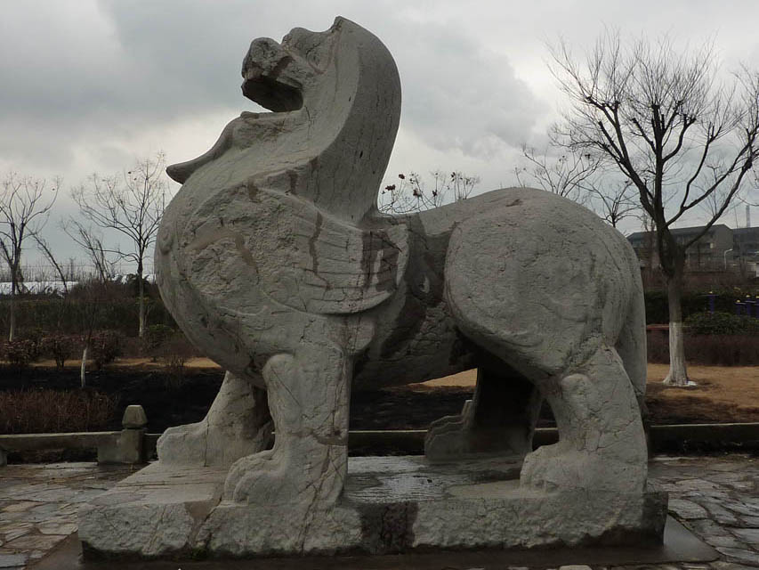 Liang Dynasty Stone Bixie (winged lion)