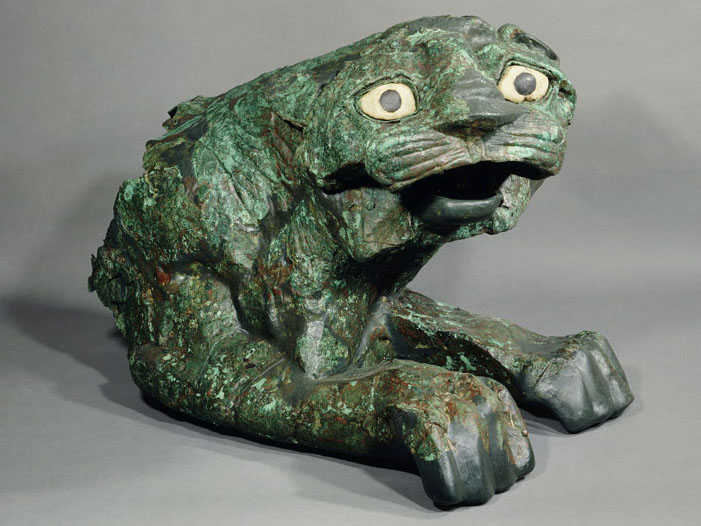 Southern Song Bronze Lion Statue