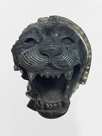 Neo-Assyrian Empire lion sculpture fragment